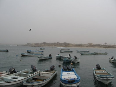 The harbour at Mirbat.