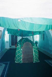 Interior of Bin Ali's tomb.