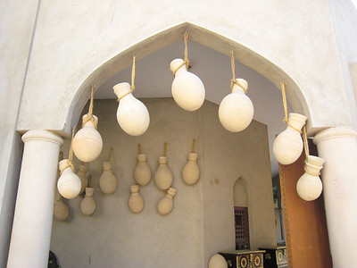 Water pots.  We bought some at Bahla in the pottery and they now hang by the front door.
