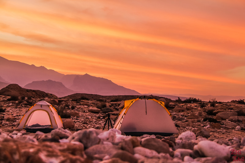 Oman images - wild camping