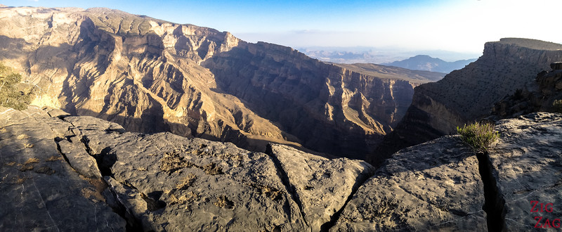 Jebel Shams Resort - Oman Grand Canyon Aussicht  2