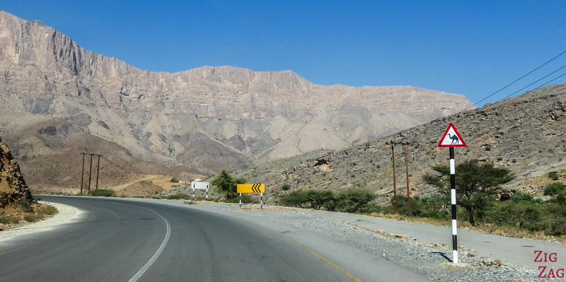 Route vers Jebel Shams Oman 1