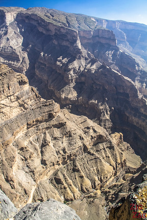 Point de vue sur Jebel Shams Oman 2