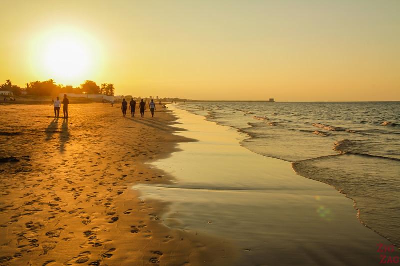 Muscat beach sunset 1
