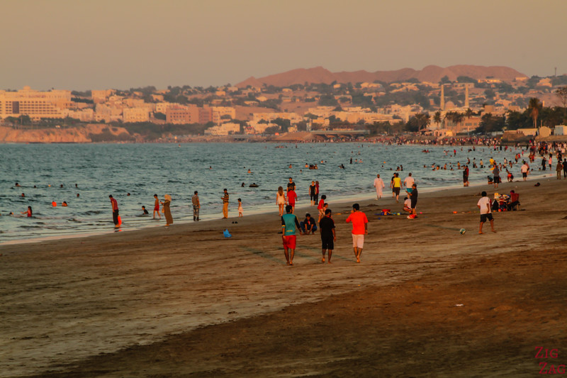 Muscat beach sunset 3