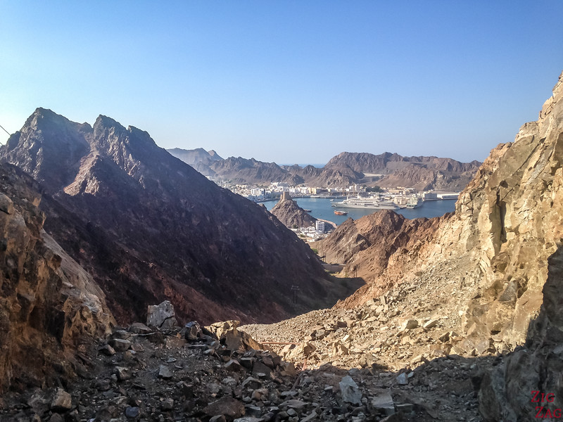 Hiking Muscat - view of Muttrah 1