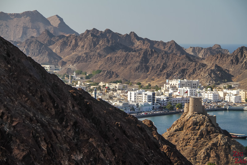 Hiking Muscat - view of Muttrah 2