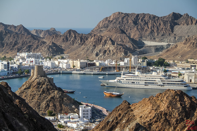 Hiking Muscat - view of Muttrah 3