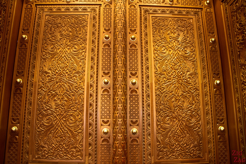 Women prayer room at Sultan Qaboos Grand Mosque Muscat Oman 2
