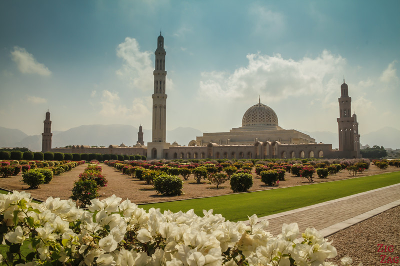 View of Sultan Qaboos Grand Mosque Muscat Oman 3