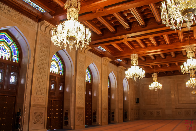 Women prayer room at Sultan Qaboos Grand Mosque Muscat Oman 1