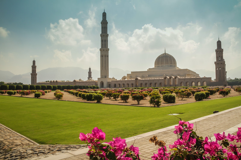 View of Sultan Qaboos Grand Mosque Muscat Oman 2