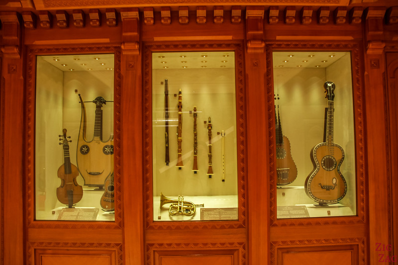 Musical instrument display - Royal Opera House Muscat - Oman 1
