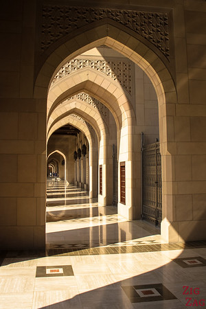 Outside Sultan Qaboos Grand Mosque Muscat Oman 5
