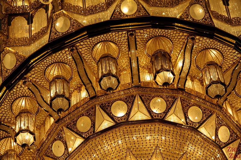 Chandelier at Sultan Qaboos Grand Mosque Muscat Oman 3