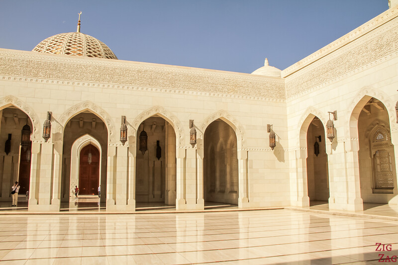 Central section at Sultan Qaboos Grand Mosque Muscat Oman 4