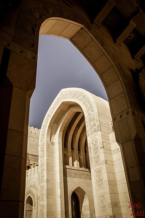 Central section at Sultan Qaboos Grand Mosque Muscat Oman 7