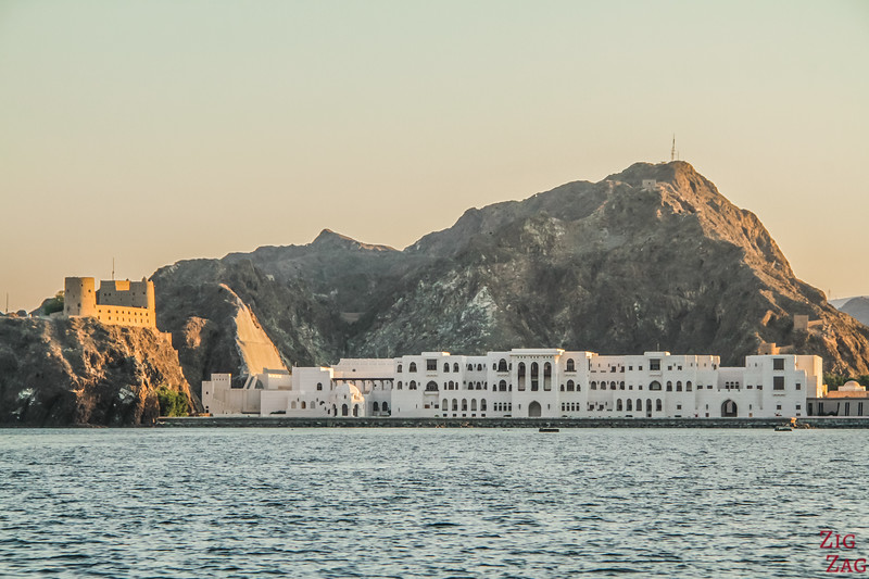 Muscat Forts and Palace from boat 3