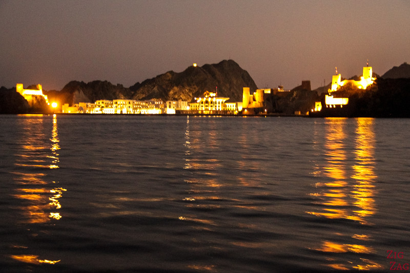 Muscat Forts and Palace from boat 4