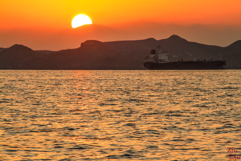 Boat off muscat sunset 2