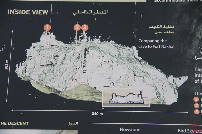 Majlis al Jinn - Salmah Plateau Oman cave sign