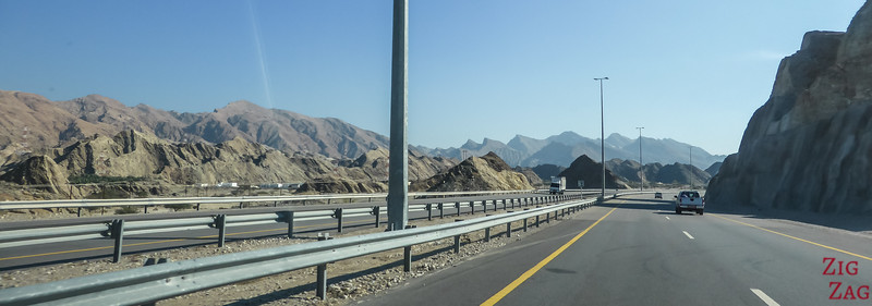 Driving in Oman - main road
