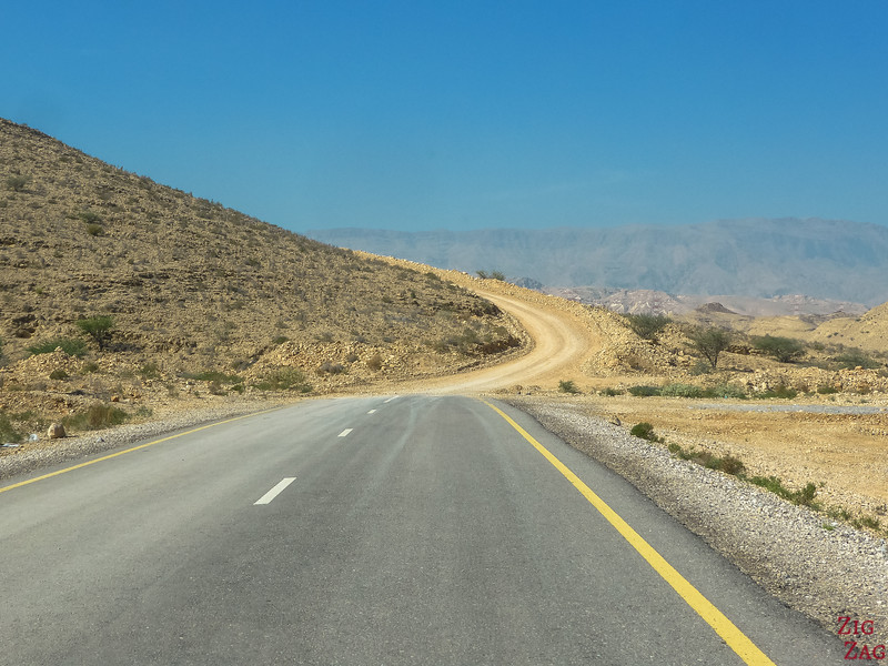 Climbing to Salmah Plateau Oman 4WD road 1
