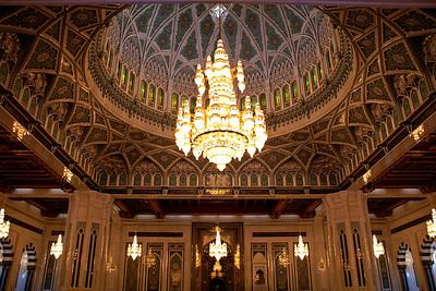 Sultan Qaboos mosque in Muscat, built in 2001