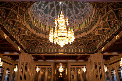 Sultan Qaboos mosque in Muscat, built in 2001