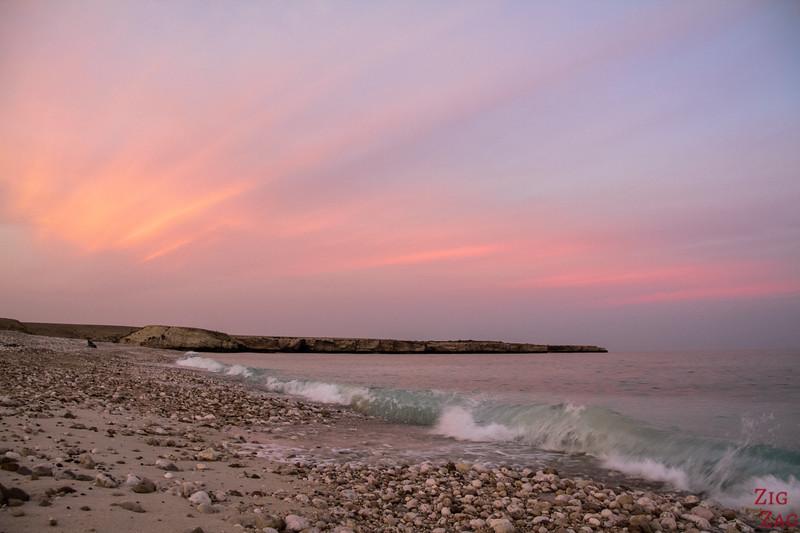 Sunset at beach Oman