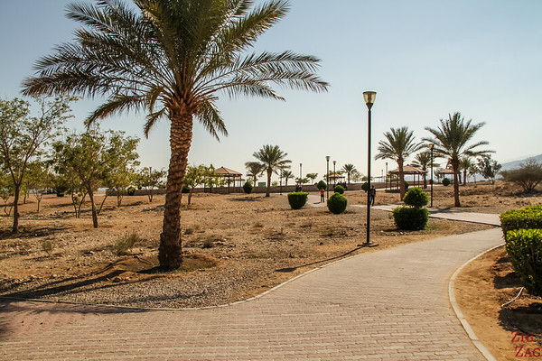 Park set up around the Bimmah Dabab Sin Hole in Oman