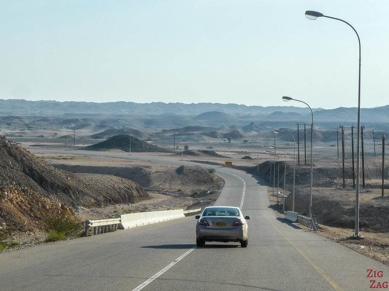 Driving in Oman - main road  2