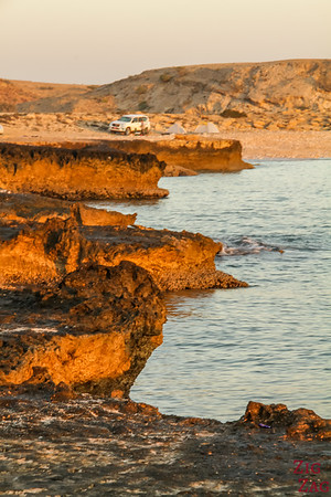Sunrise beach after wild camping Oman 2