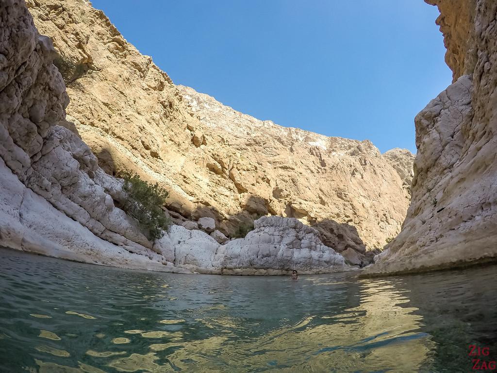 Swimming in Wadi Shab - Oman 2