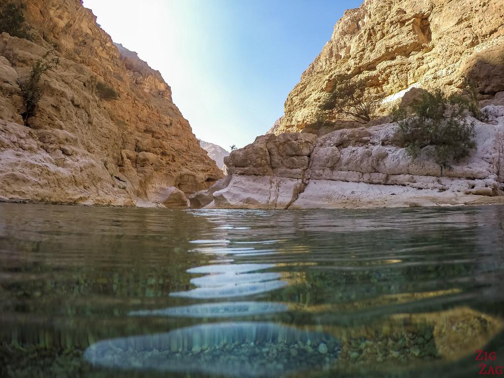 Swimming in Wadi Shab - Oman 1