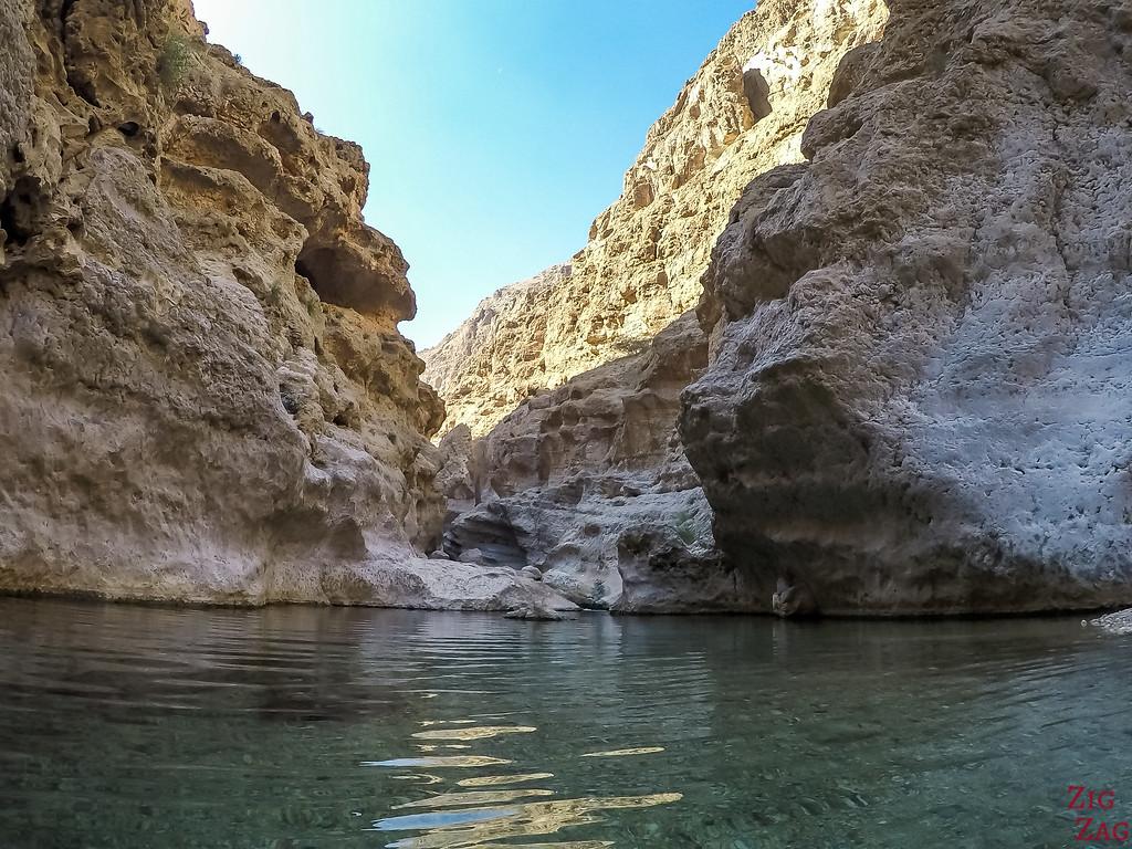 Swimming in Wadi Shab - Oman 6