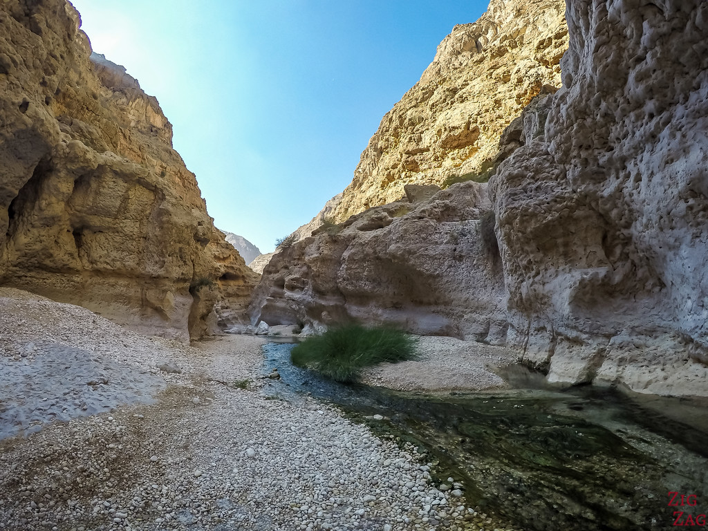 Hiking in Wadi Shab, Oman