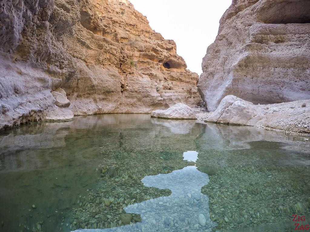 Swimming in Wadi Shab - Oman 5