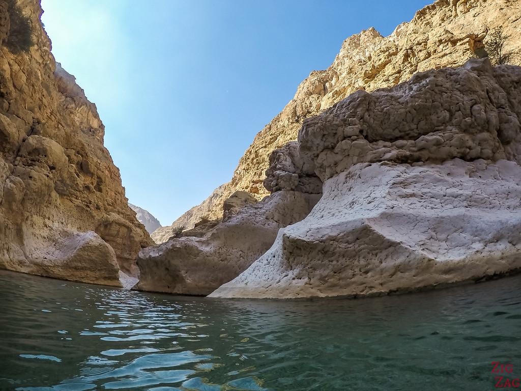 Swimming in Wadi Shab - Oman 3