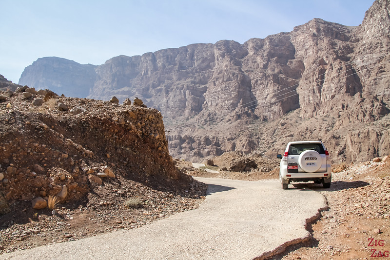 Driving in Oman - wadi