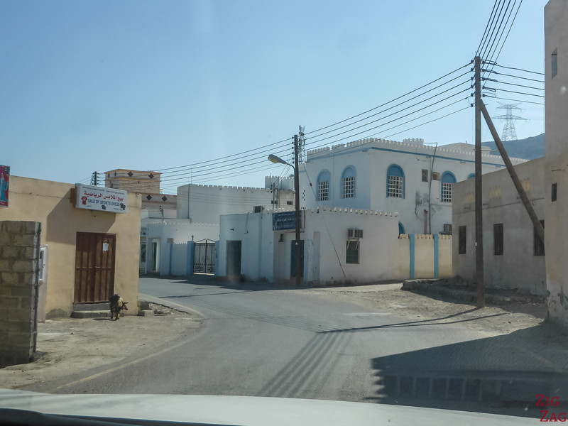 Driving in Oman - towns 2