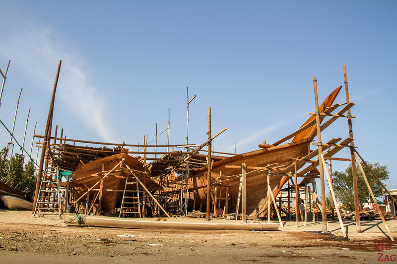 Dhow Werft - Oman Traditionelles Boot 3