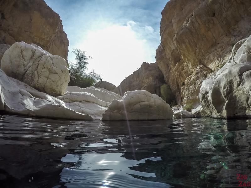 Schwimmen im Wadi Bani Khalid 4