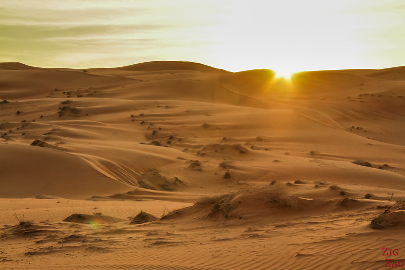 Wahiba Sands desert sunset 1