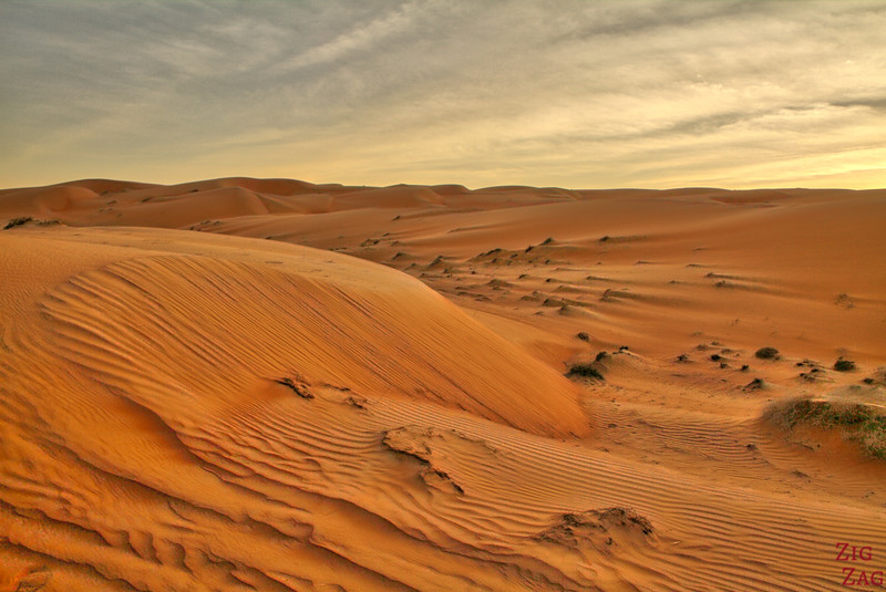 Wahiba Sands desert sunset 2