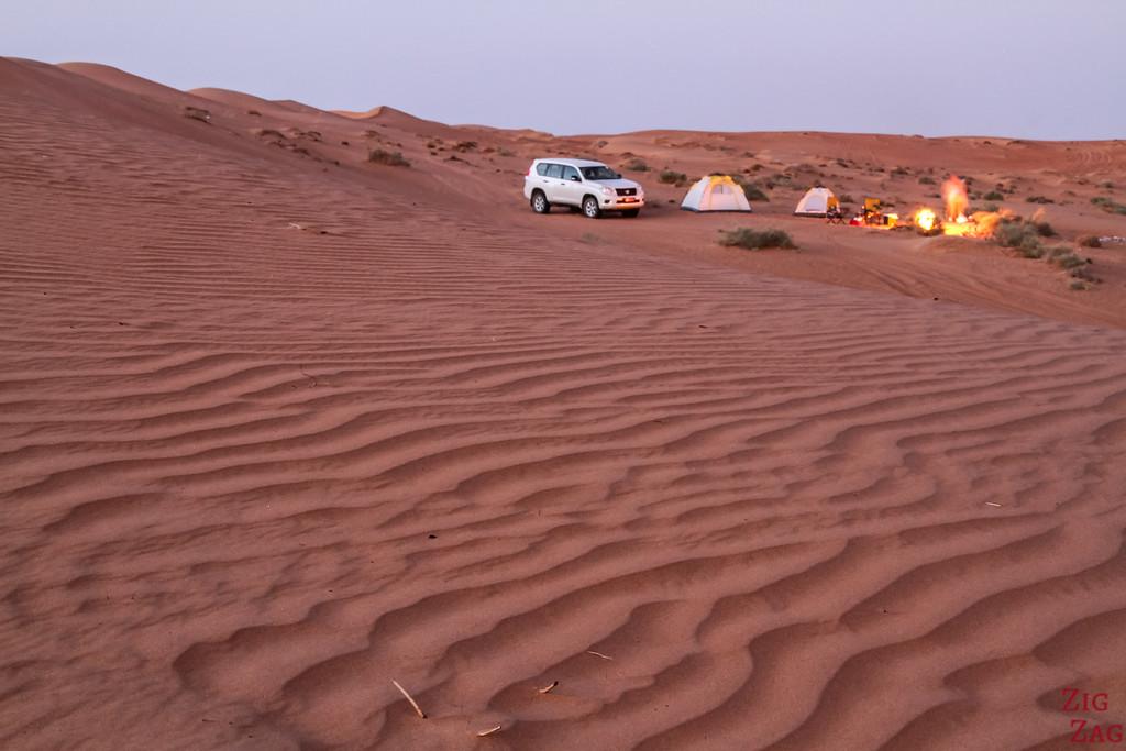 Wild Camping in Wahiba Sands, Oman