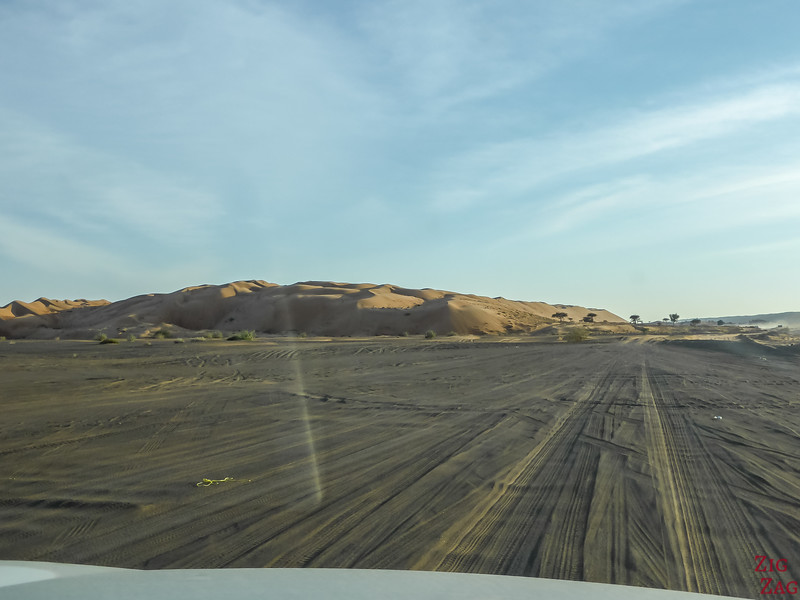 Approching the dunes of Wahiba Sands, Oman 2