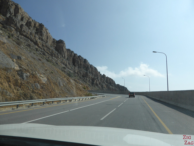 Mountain road in Oman