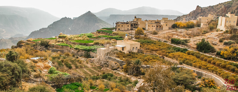 Village and plantations Al Ayn in Jebel Akhdar Oman
