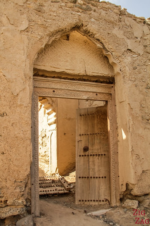 Al Munisifeh, Oman - ruin door  2